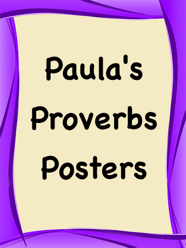 Paula's Proverbs Posters