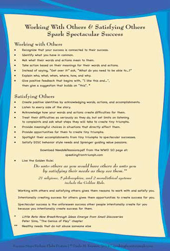 Working With Others & Satisfying Others Poster