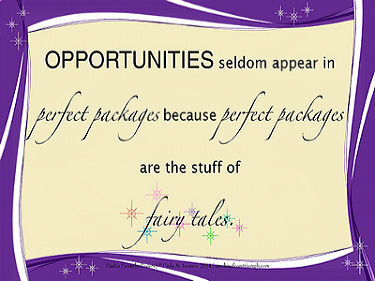 Opportunities Not Fairy Tales Poster