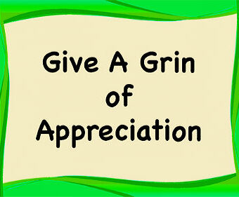 Give A Grin Of Appreciation Cards